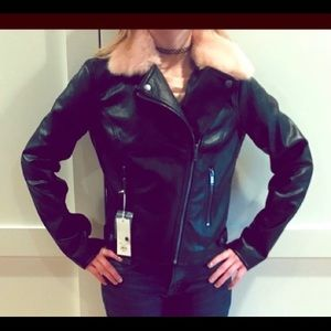 NWOT New Candie's Faux Leather Jacket Faux Fur